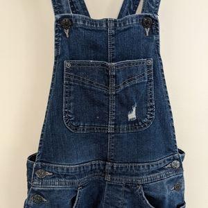 Levi's women's  jean denim overalls cross straps